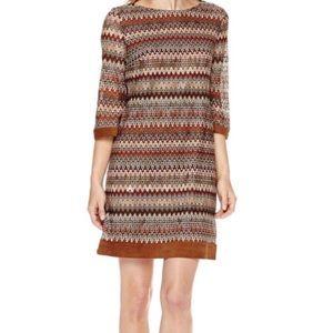 Sandra Darren Brown Rust Shift Dress